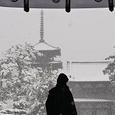 雪の法隆寺南大門